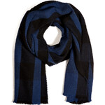 Jil Sander Cashmere-Wool Scarf in Blue Check