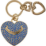 Juicy Couture Bright Lapis Pave Heart Key Fob in Gift Box