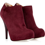 Fendi Suede Ankle Boot in Aubergine