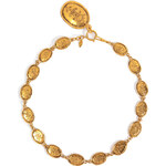 Chanel Vintage Jewelry Gold-Plated Etched Coin Necklace