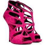 Giuseppe Zanotti Magenta Suede Wafer Platform Sandals