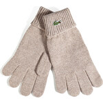 Lacoste Wool Gloves in Sand