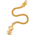 Chanel Vintage Jewelry Gold-Plated CC Circle and Drop Necklace