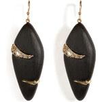 Alexis Bittar Durban Small Stripe Earring in Black