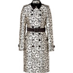 Burberry London Silk Blend Churchfield Trench in Black/White Lace Optic