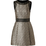 RED Valentino Jacquard Mixed Print Dress