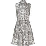 Jil Sander Navy Pearl/Ebony Printed Silk Dress