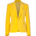 Ralph Lauren Collection Yellow Silk Cady Blazer