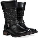 UGG Australia Leather Conor Studded Boots in Black
