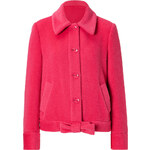 Moschino Cheap and Chic Alpaca-Wool Blend Bow Jacket