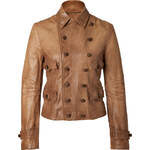 Ralph Lauren Blue Label Leather Redrock Jacket in Tan