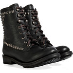 Ash Leather Ralph Destroyer Boots in Black