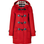 Burberry Brit Wool Minstead Duffle Coat in Military Red