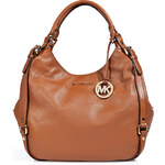 Michael Michael Kors Leather Buckled Side Bedford Hobo in Luggage
