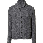 Woolrich Wool Smith Cardigan in Faded Navy Mouline