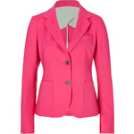 Piazza Sempione Lightweight Stretch Wool Blazer in Fuchsia