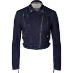 Burberry Brit Stretch Cotton Denim Kellow Jacket in Dark Indigo