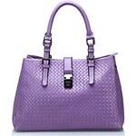 LightInTheBox Women's Genuine Weave Cowhide Leather Handbag Totes