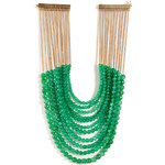 Rosantica Raissa Necklace with Green Jade