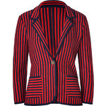 Juicy Couture Siren/Royal Navy Wool Nautical Knit Striped Blazer