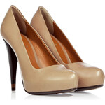 Fendi Taupe Calf Leather Platform Pumps