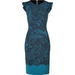 Emilio Pucci Petrol/Black Lace Print Dress