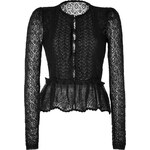 RED Valentino Mohair Blend Knit Cardigan in Black