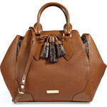Burberry London Leather Medium Ablett Tote with Long Strap