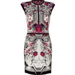 Roberto Cavalli Intarisa Knit Dress in Rosso/Nero