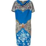 Etro Blue-Multi Paisley Print Jersey Dress