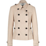 Burberry Brit New Chino Short Cotton Poplin Dukesby Trench Coat