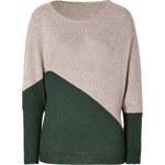 Etro Wool-Silk-Cashmere Two-Tone Dolman Sleeve Top