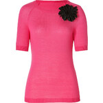 Moschino C&C Wool Knit Top with Corsage