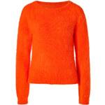 J.W. Anderson Angora Blend Raglan Sleeve Pullover in Orange