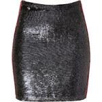 Iro Black/Red Sequined Skirt