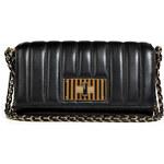 Fendi Leather Claudia Clutch in Black