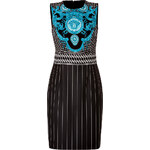 Versace Jersey Dress in Violet/Turqouise/Acid