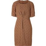 Hoss Intropia Micro Print Dress in Khaki