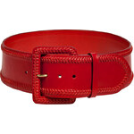 Ralph Lauren Collection Red Braided Trim Leather Belt