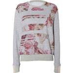 Preen by Thornton Bregazzi Grey-Multi Floral Print Sweater Top