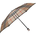 Burberry Shoes & Accessories Camel Check Folding Umbrella