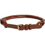 Ralph Lauren Blue Label Tan Leather Tubular Braid Belt