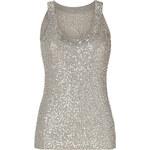 Donna Karan Oyster Sequined Cashmere-Silk Knit Tank Top