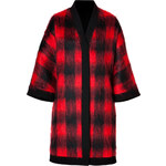 Fausto Puglisi Mohair-Wool Blend Check Coat