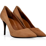 Fendi Cinnamon Suede Pointed Toe Pumps
