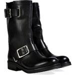 Vanessa Bruno Leather Biker Boots in Black