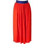 Roksanda Ilincic Coral-Multi Georgette Riven Midi Skirt