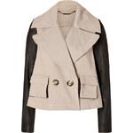 Rachel Zoe Cotton/Leather Jacket in Khaki/Black