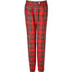Preen by Thornton Bregazzi Wool Bo Pants in Red Tartan