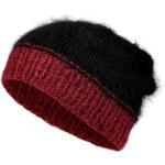 Lala Berlin Arthur Knit Cap in Black/Red Metallic